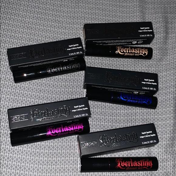 Kat Von D 5 Everlasting Glimmer Veil Lipsticks NWT